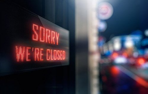 Sorry Were Closed Sign Business Closure Business Income Blog PostPic 2